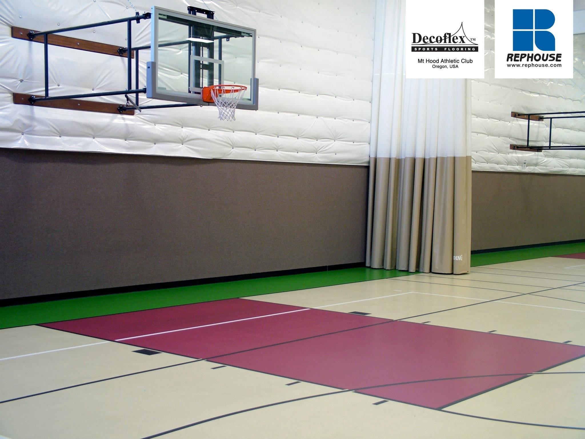 Decoflex Universal Seamless Polyurethane Indoor Sports Flooring Mt Hood Athletic Club Oregon Usa Indoor Sports Sports Athletic Clubs