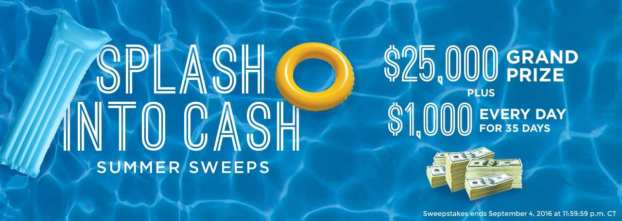Win $25,000 in cash on Pepsi and Culver's - Splash Into Cash