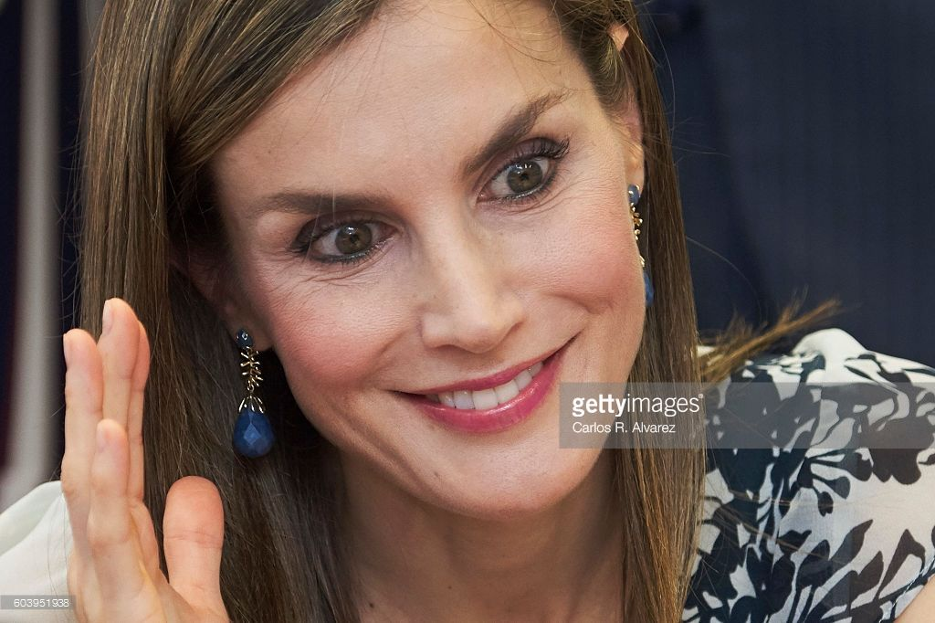 Queen Letizia of Spain attends the opening of 2016-2017 scholarship course at 'Gines Morata' school on September 13, 2016 in Almeria, Spain.