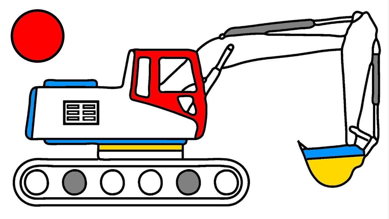 How To Draw Excavator Truck Coloring Pages Learn For Kids Art