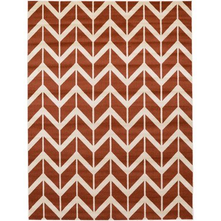 Unique Loom Chevron Rug Red