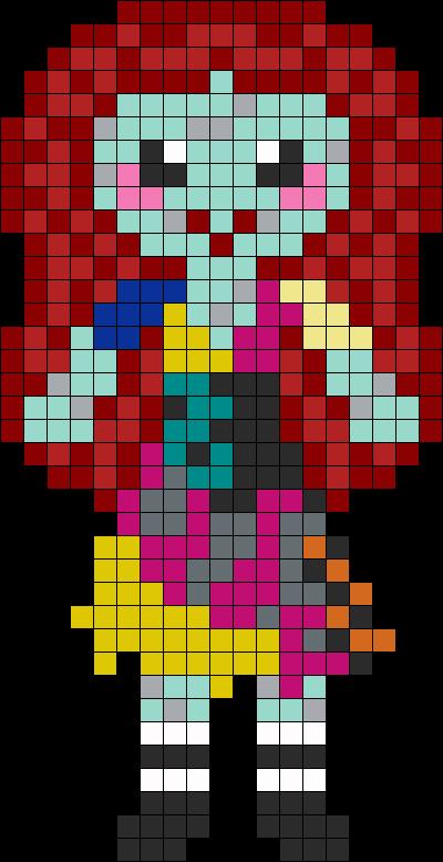 Sally Perler Bead Pattern / Bead Sprite | Perler Crap