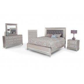 Diva 8 Piece Queen Bedroom Set Schlafzimmermöbel