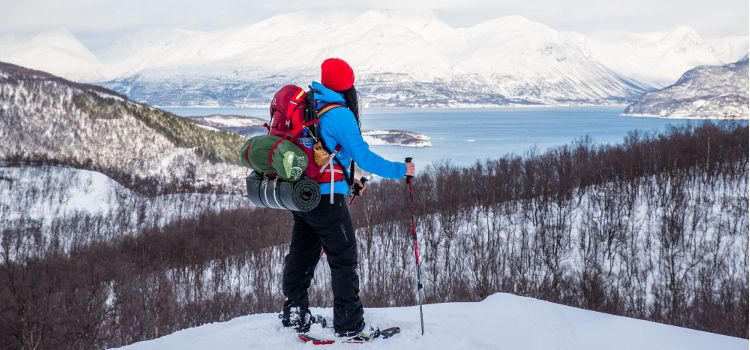 Trekking raquetas de nieve en Noruega