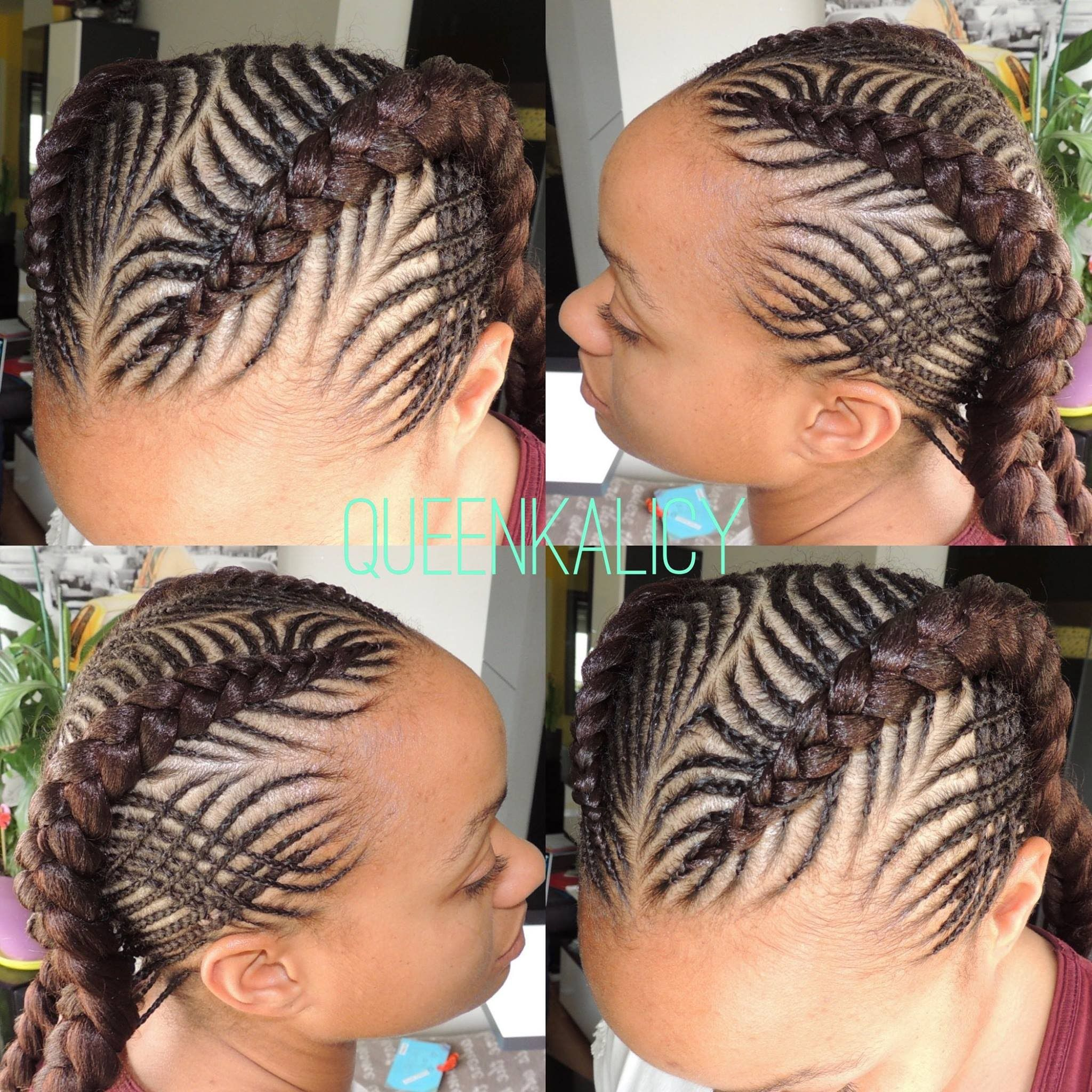 Fishbone Braids Cornrows