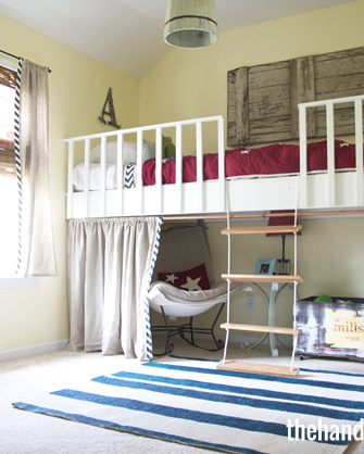 29+ Double deck bed design with curtain inspirations