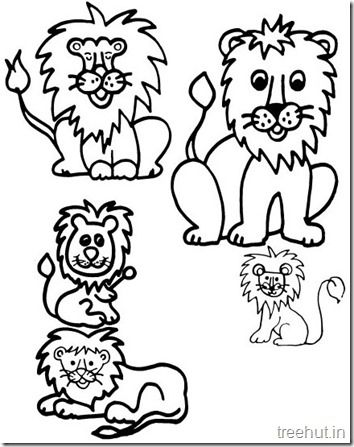 Lion and Lion Face Coloring Pages (2) | Coloring Pages | Pinterest ...