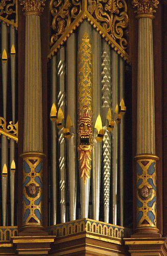 Stellichte, Walsrode, Gutskapelle, organ, front pipes   Pipe Organs