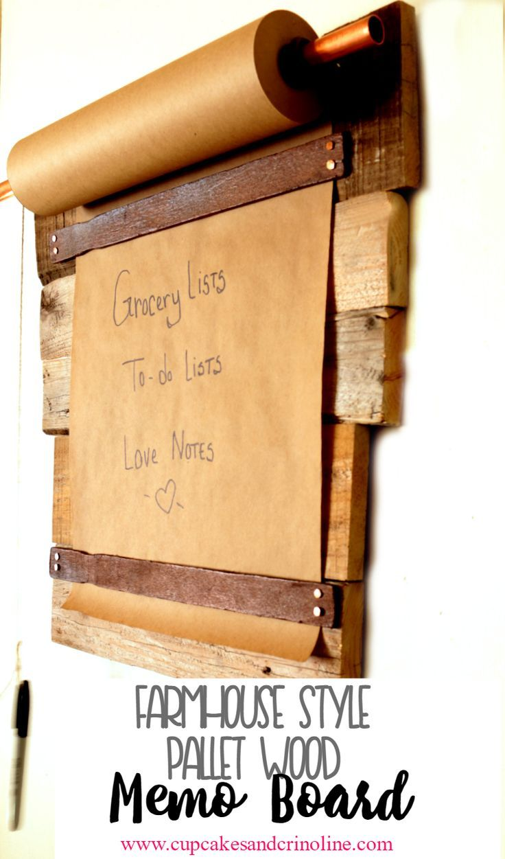 DIY Farmhouse-Style Pallet Wood Memo Board - Cupcakes and Crinoline