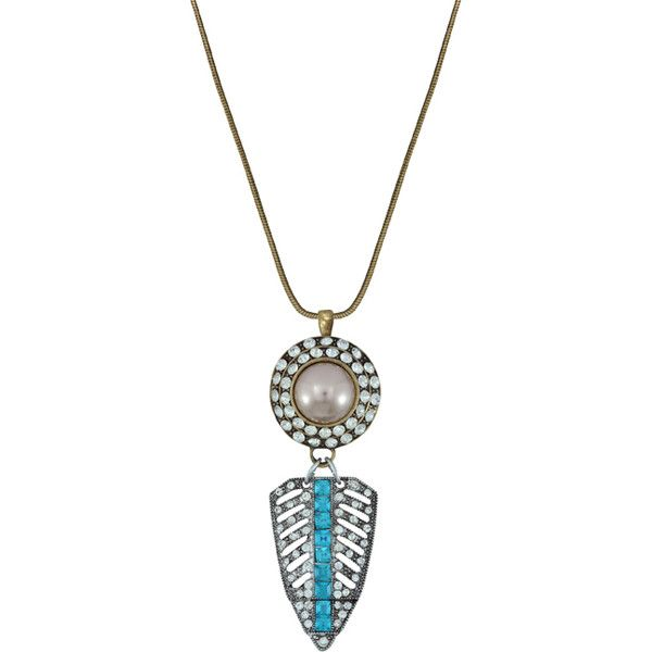 Pink pave art deco pearl pendant long necklace 41 liked on pink pave art deco pearl pendant long necklace 41 liked on polyvore featuring aloadofball Gallery