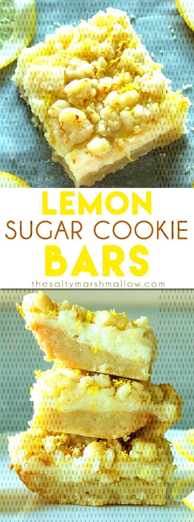 Lemon Sugar Cookie Bars -
