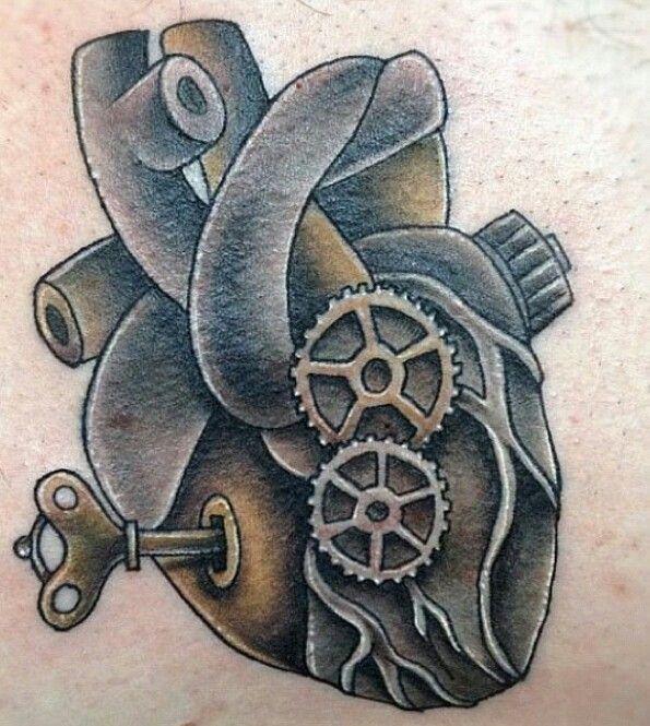Mechanical Heart Tat Medical Drawings Heart Tattoo Framed Tattoo