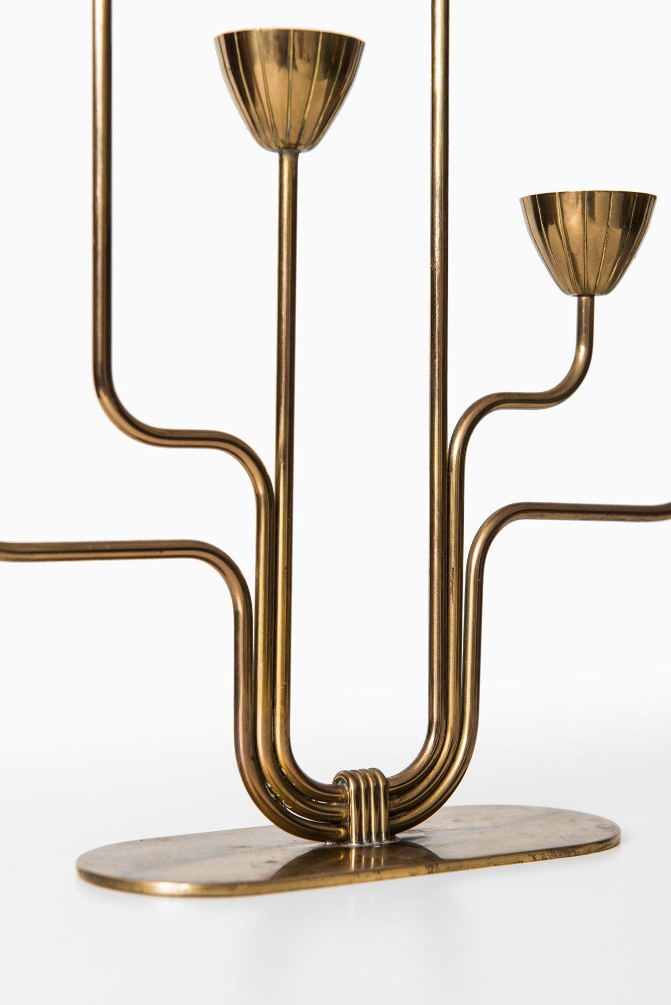 Gunnar ander candlestick in brass at studio schalling studio