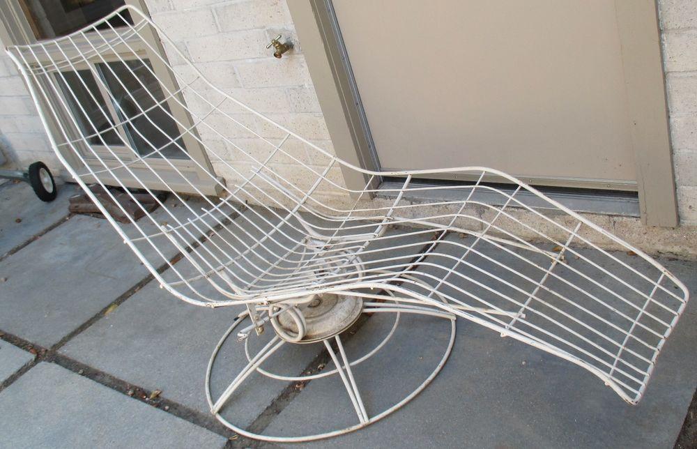 Vtg 50s 60s Homecrest Siesta Lounge Chair Chaise Mid