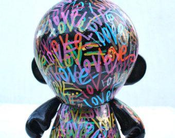 KIDROBOT kid robot mega munny sculpture painting vinyl toy contemporary fine art modern love munny dunny