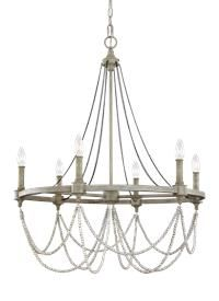 F3132 6fwo Dww 6 Light Chandelier French Washed Oak Distressed White Wood Wood Chandelier Chandelier Lighting Candle Style Chandelier