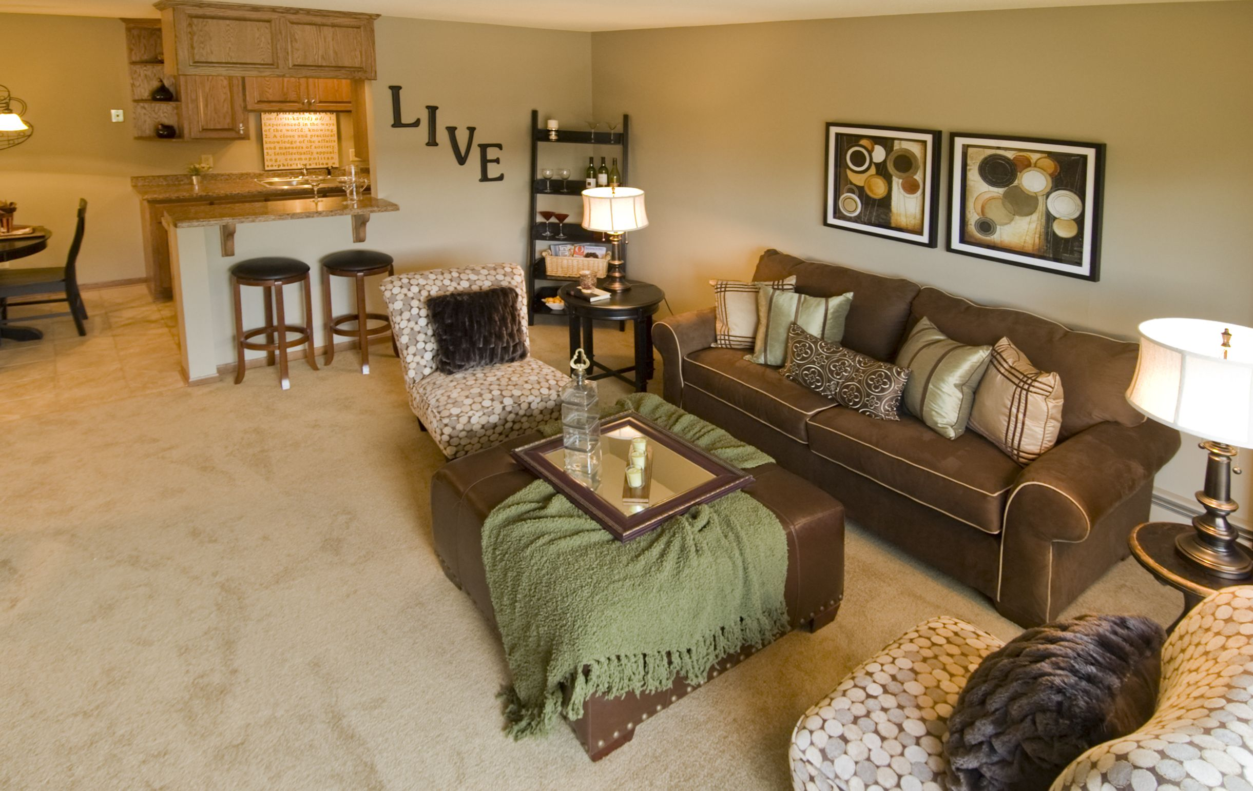 Apartment interior at Midland Terrace apartments in Shoreview MN