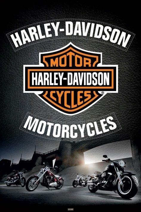 Harley Davidson Leather Poster Sold At Abposters Com Harley Davidson Wallpaper Harley Davidson Signs Harley Davidson Motorcycles