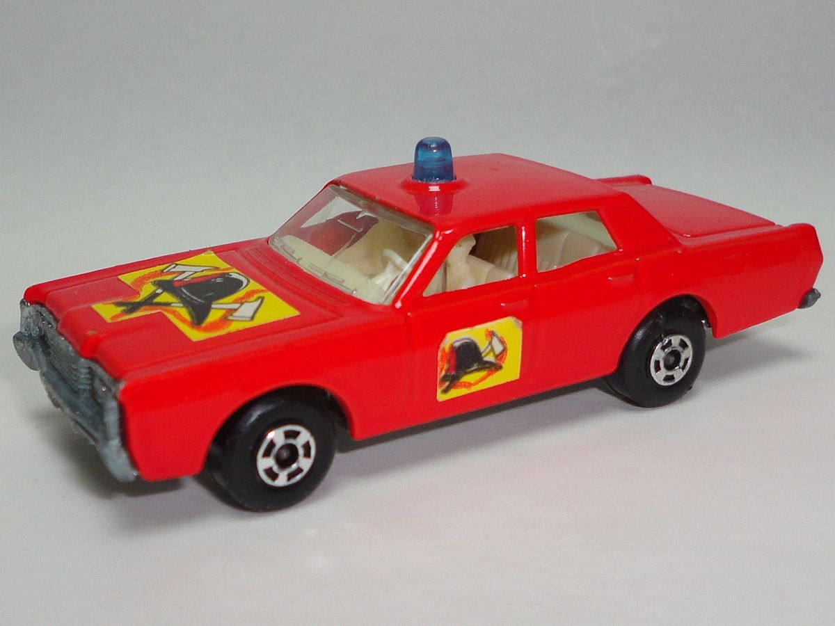 Vintage 1969 Matchbox Red Mercury Fire Chief Car Number 59 or 73 ...