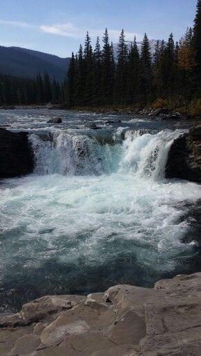 Sheep river falls in Kananaskis Country. Alberta, Canada.