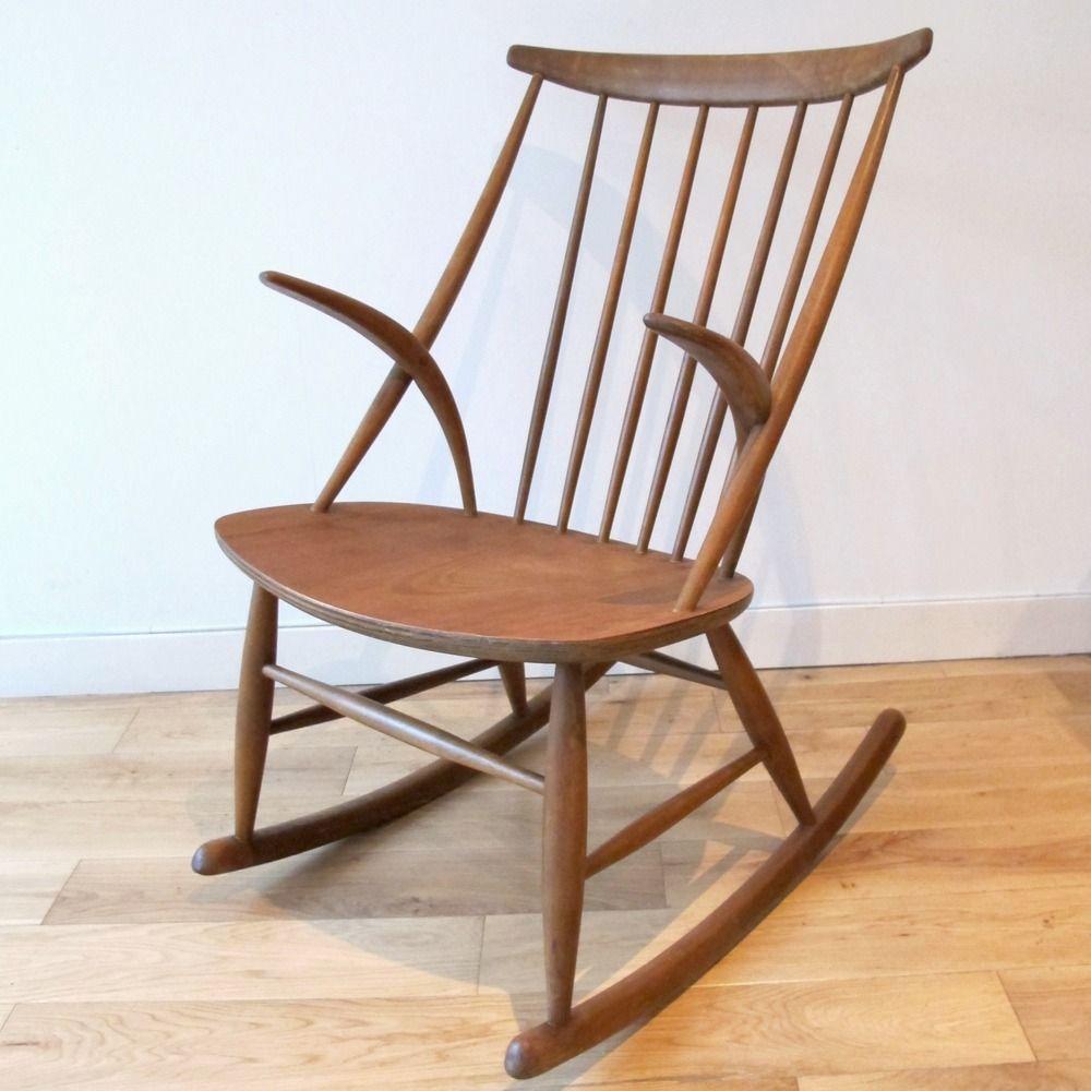 Bon 1960s Illum Wikkelsø Danish Rocking Chair From Among My Souvenirs Website
