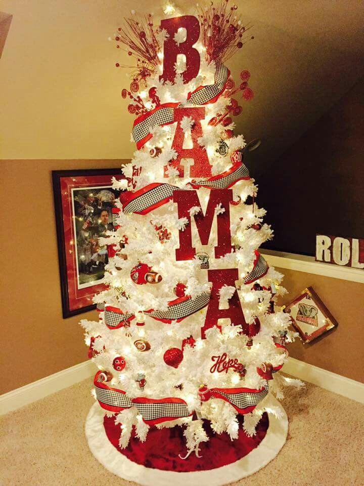 Alabama christmas tree. Love this | Roll Tide!!! | Pinterest ...