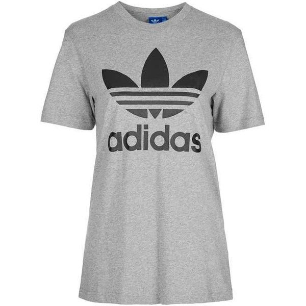 promo code 1d8b0 c9ac5 Trefoil Tee by Adidas Originals ( 27) ❤ liked on Polyvore featuring tops, t