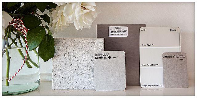 Varaluz Polar Light Blackened Silver Vanity Light With Ice: Kitchen With Caesarstone NOUGAT Countertops White Vinyl
