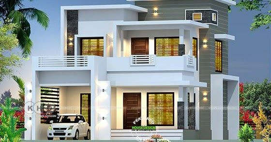 2350 Square Feet Modern Contemporary Style Box Type Home