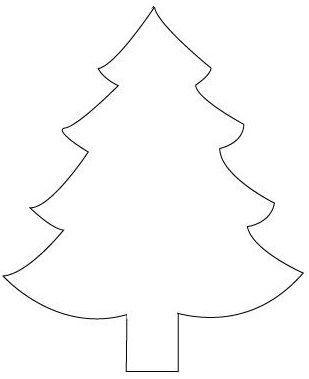 46bae047ab4361ac763b5d5ec5898a2c Jpg 309 379 Pikselia Christmas Tree Template Christmas Applique Christmas Ornaments Homemade