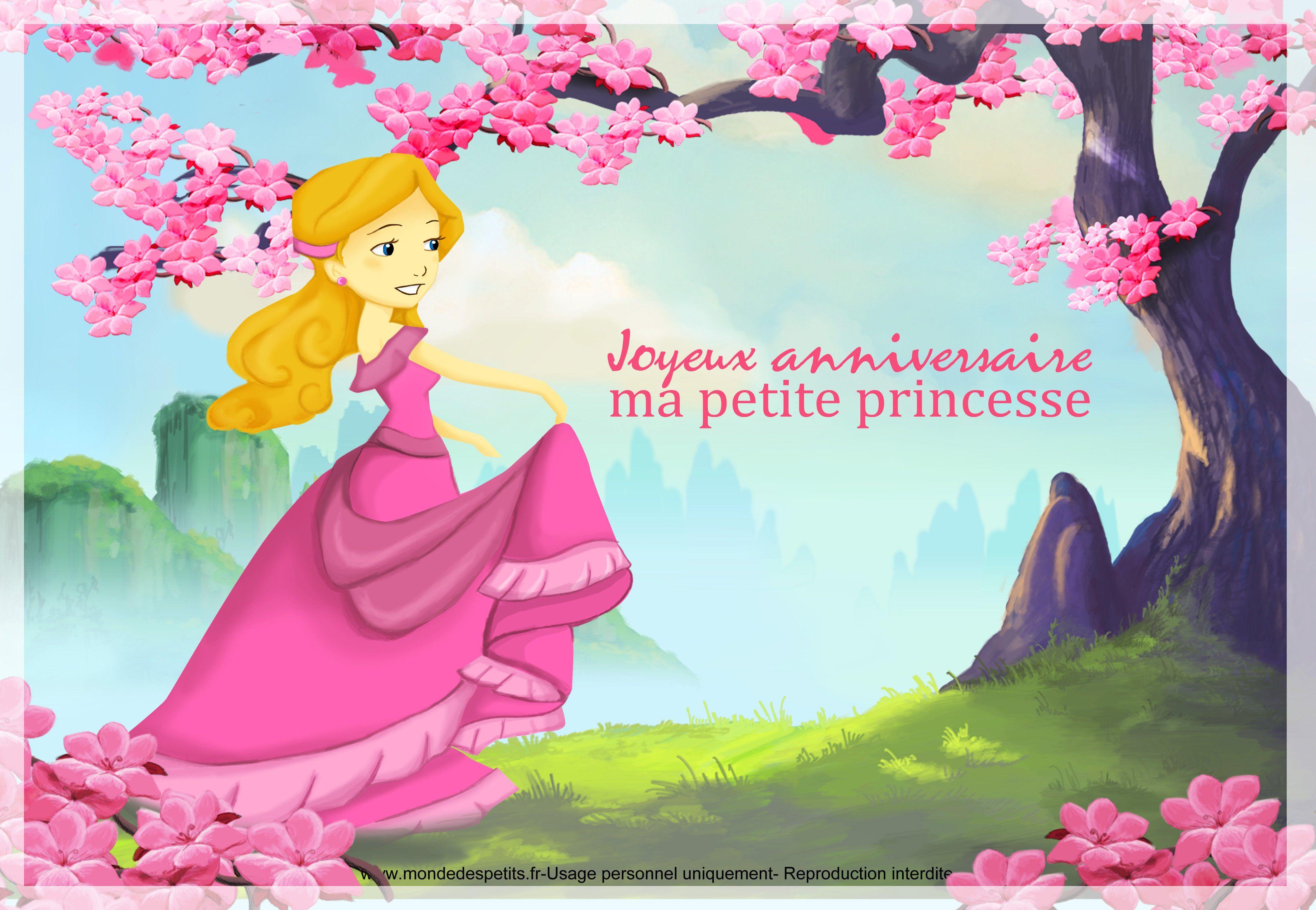 Carte D'invitation Anniversaire À Imprimer Gratuite Fille New J…   Joyeux anniversaire princesse ...