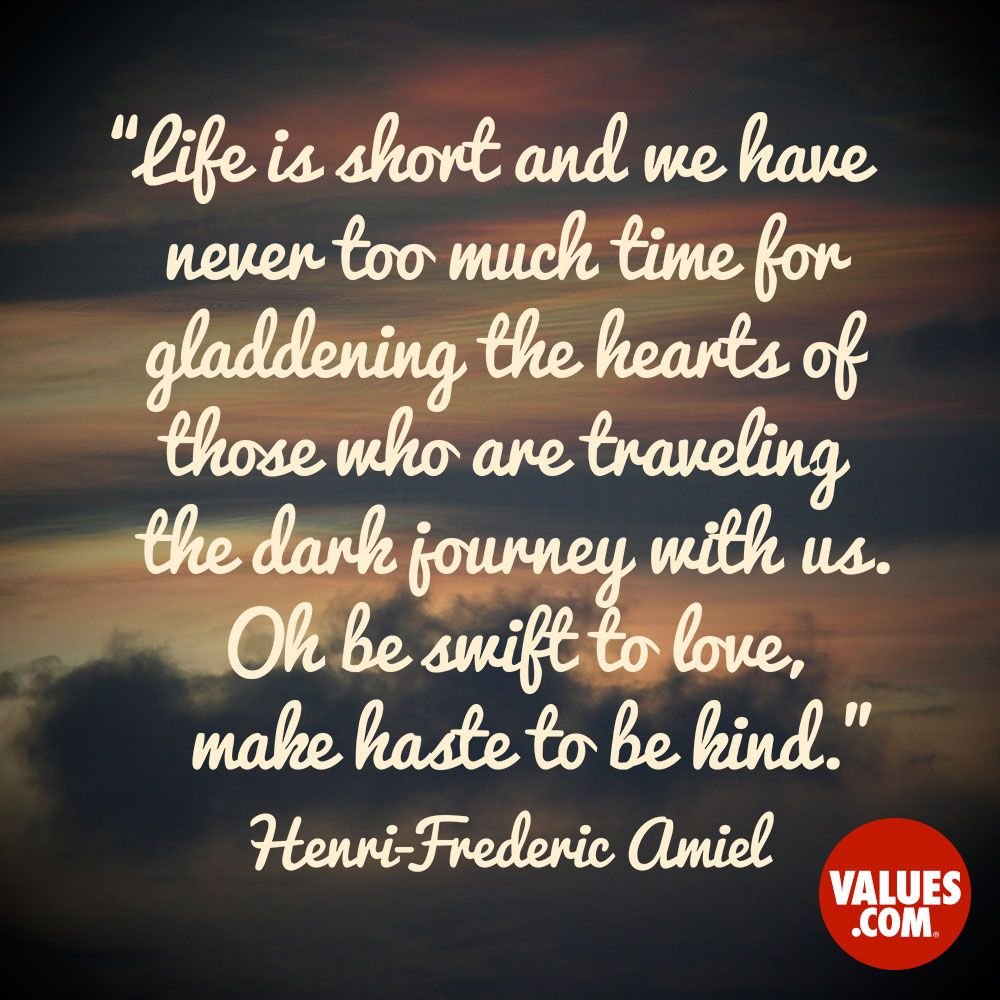 Life Journey Quotes Inspirational An Inspirational Quotehenrifrederic Amiel From Values