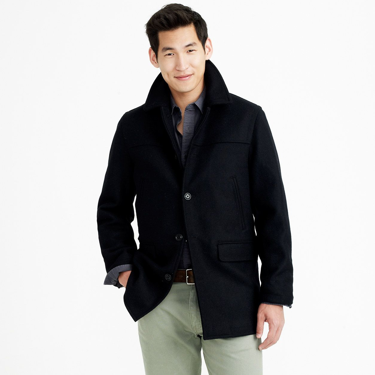 Slim university coat with Thinsulate® : Chino | J.Crew
