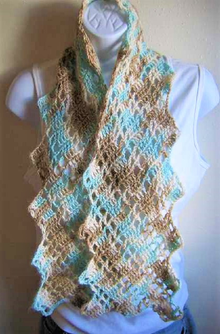 Lacy Crochet Scarf Pattern Simple Design