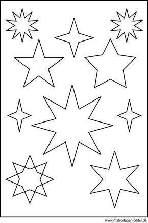 Sternen Vorlage Mehr | Weihnachten | Pinterest | Sterne, Vorlagen ...