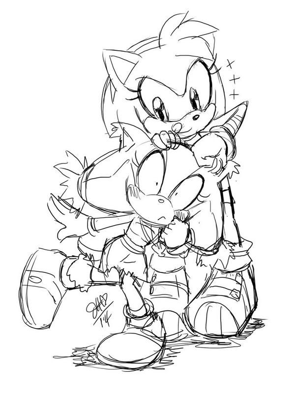 Amy And Sticks Sonic And Amy Sonic Art Sonic