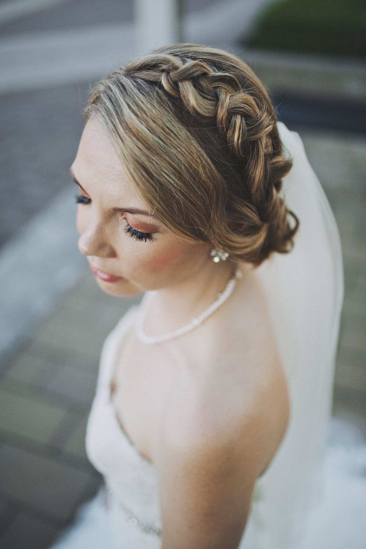 updo, upstyle, braid, dutch braid, bridal hairstyle, veil | my