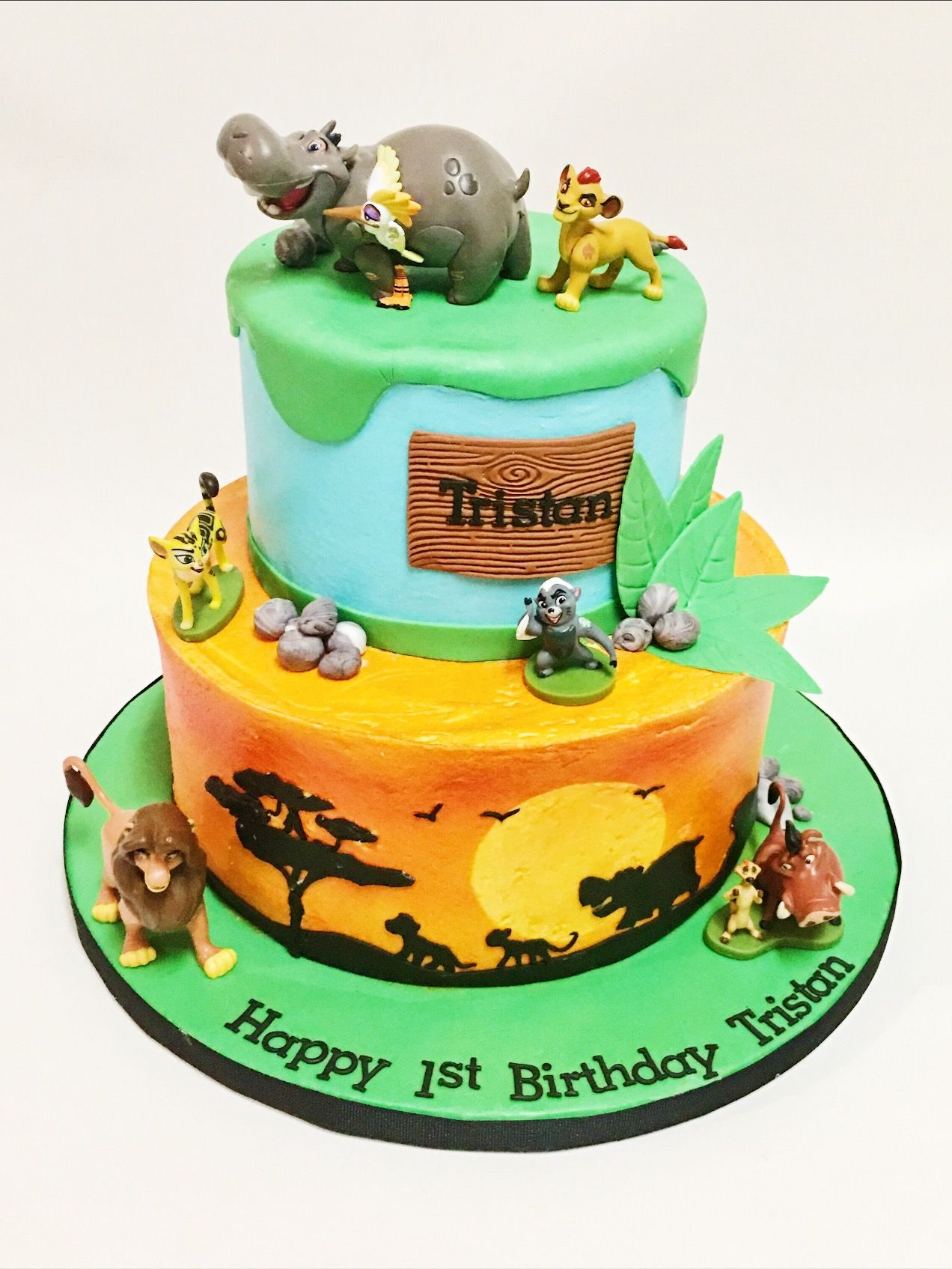 Custom Lion King Birthday Cake by A Little Slice of Heaven Bakery in