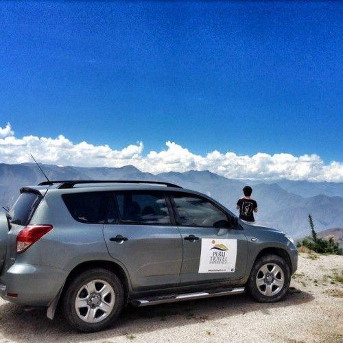 Imagen al nivel de las nubes Camino Chachapoyas - Cajamarca. Poblado de Balsas.