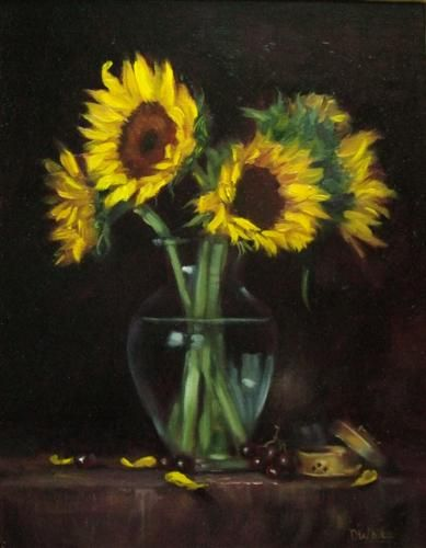 Photos Of Sunflowers In Vases Google Search Sunflower Vase Floral Art Art
