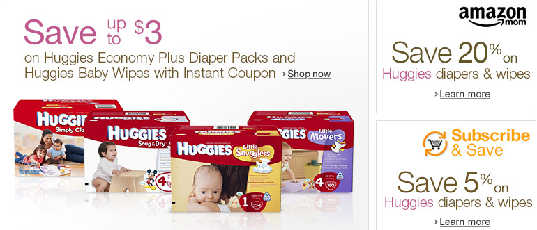 Promo Codes For Amazon 20% OFF Huggies Diapers & Wipes  Shop
