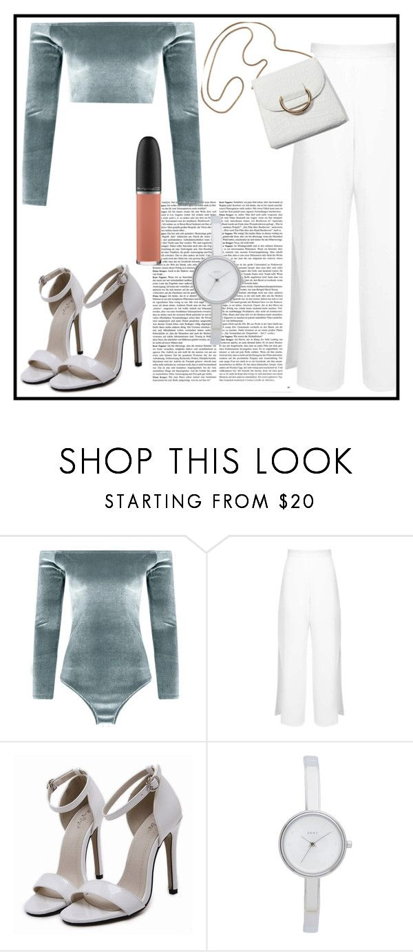 """Untitled #50"" by visionnns ❤ liked on Polyvore featuring Boohoo, Miss Selfridge, DKNY and MAC Cosmetics"