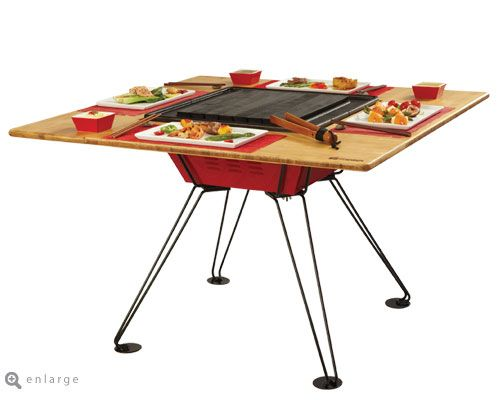 Dude This Is Like Japanese Teppanyaki At Home Awesome Bbq Table Grill Table Decor