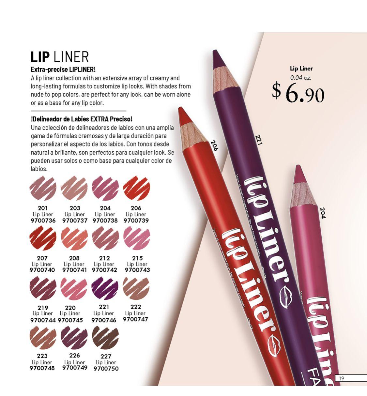 6.90 Extra Precise Lip Liner farmasi lipliner