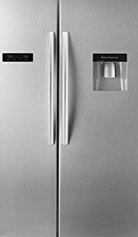 Hisense Side By Side American Fridge Freezer With Water Dispenser Stainless  Steel Effect Doors RS723N4WC1_AP No