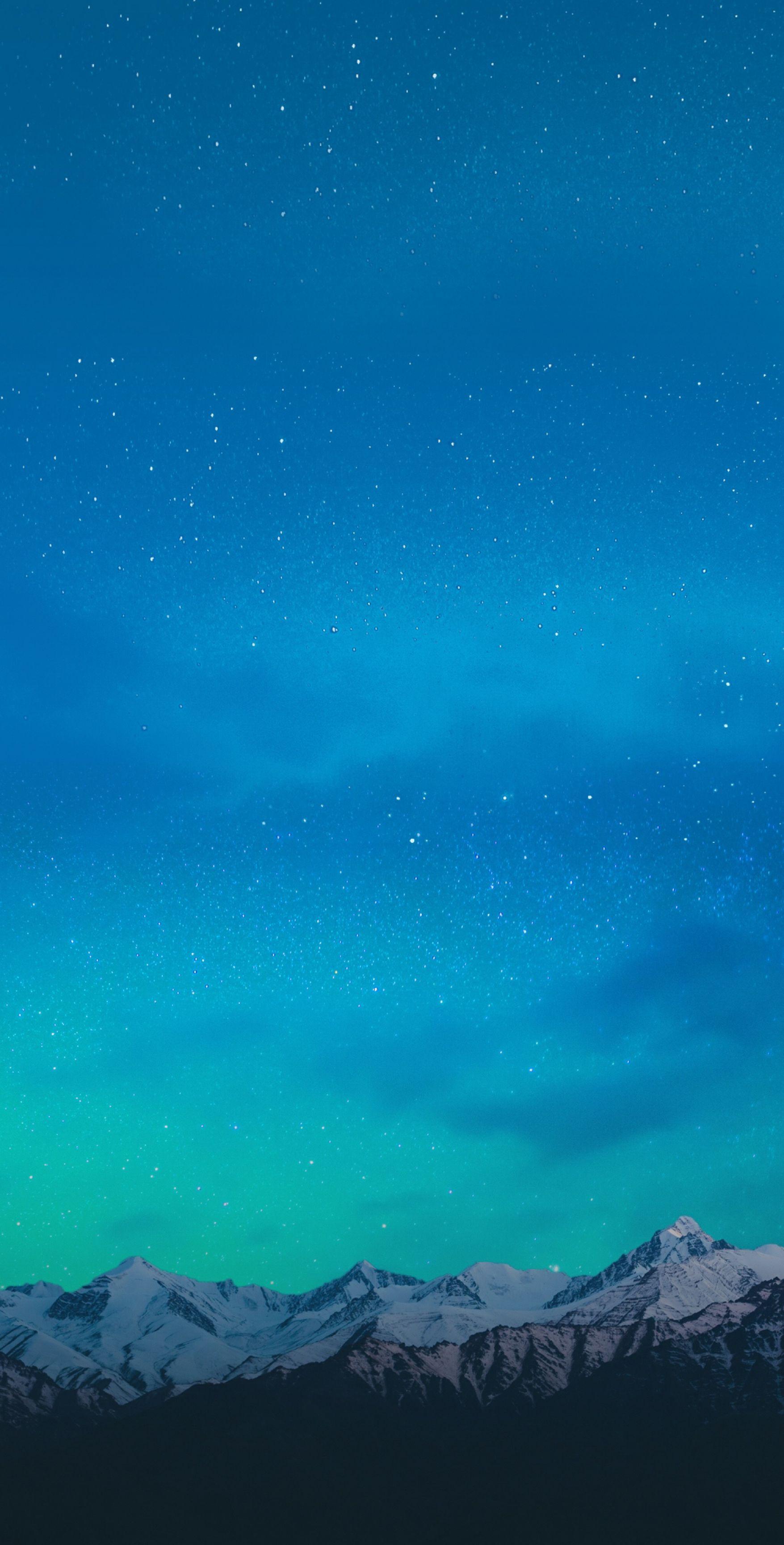 mountain aqua wallpaper galaxy tranquil beauty