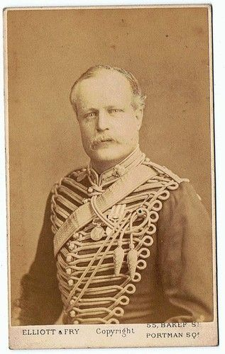 GOOD MILITARY CARTE DE VISITE OF A NAMED INDIAN MUTINY OFFICER.