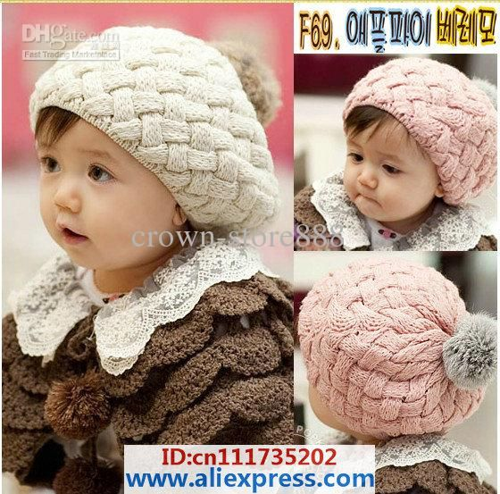 1b77ad221 HANDMADE Cotton Crochet Hat Cap Beanie Baby Mixed style hot Toddler ...