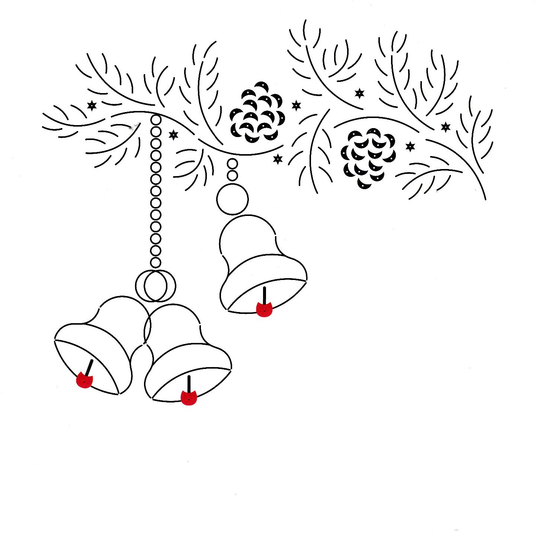 kersttak met klokjes hobbydots kaarten maken patronen