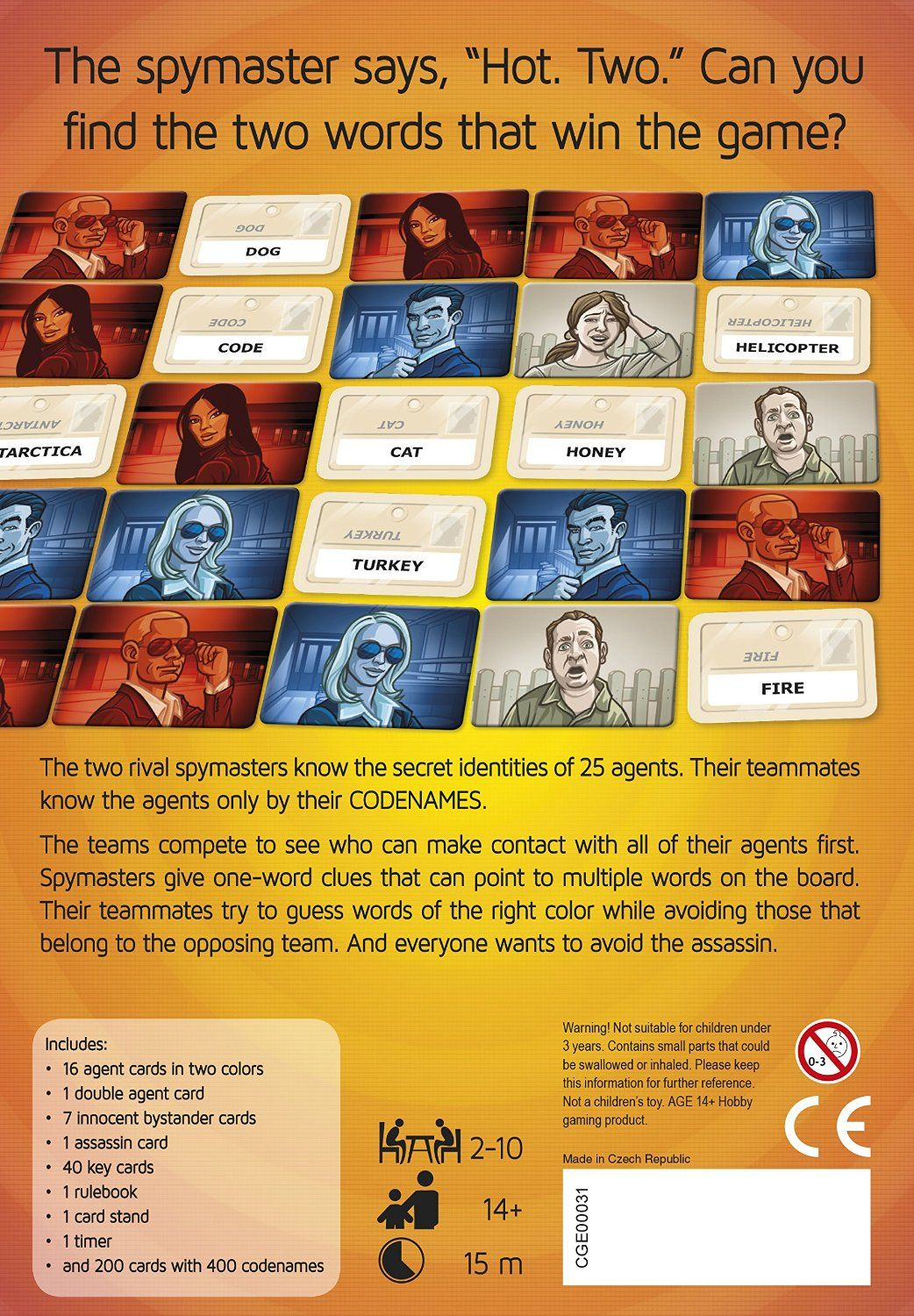 Codenames (Bestseller Game) 2 Rival Spy Masters know th
